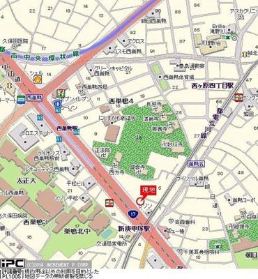 【地図】Cachette西巣鴨