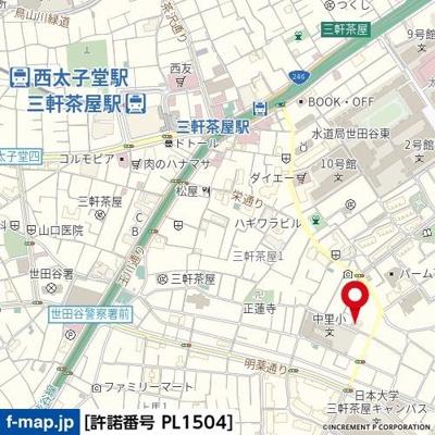 【地図】コーポ中里