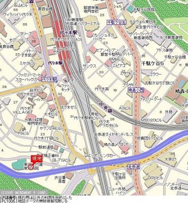 【地図】ドルチェ代々木