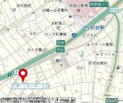 【地図】OLIO渋谷西原