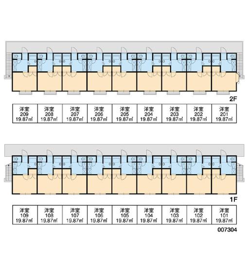 【区画図】レオパレス西砂