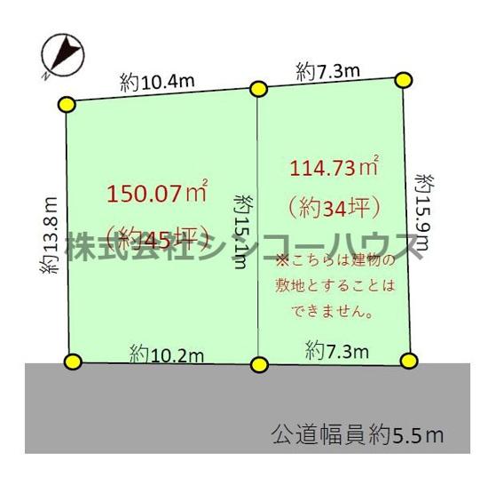 【土地図】加須市戸室 売地