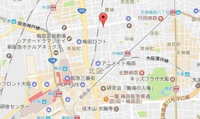 【地図】エステムプラザ梅田・中崎町Ⅲツインマークスノースレジデンス