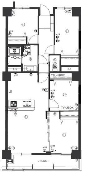 開放感あるオープンなカウンターキッチンを置いたLDK。全室フローリングの4LDKです。ペットOKなので、大切な家族もいっしょに新生活を始められますよ!