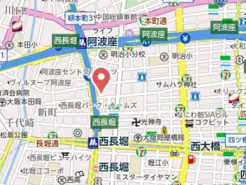 【地図】プレサンス立売堀ベルヴィル