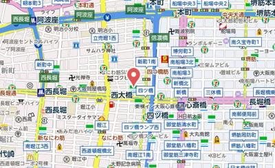 【地図】アーデン四ツ橋プライマリーワン