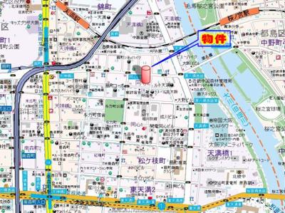 【地図】エスリード同心第2