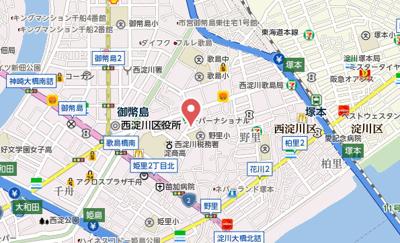 【地図】エナブル塚本2