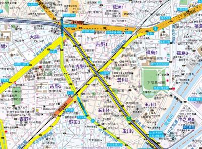 【地図】エレガントレジデンス中之島