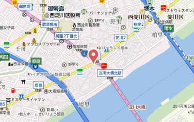 【地図】エナブル塚本