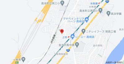 【地図】マレット・フィールドA棟 (株)Roots