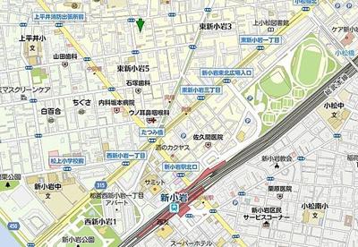 【地図】レアライズ新小岩