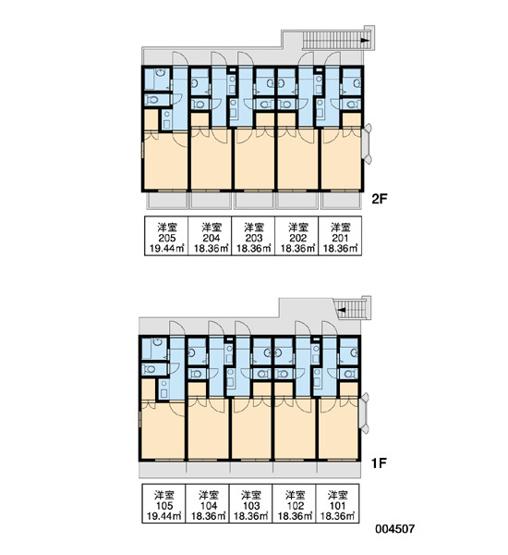 【区画図】レオパレス立川第三