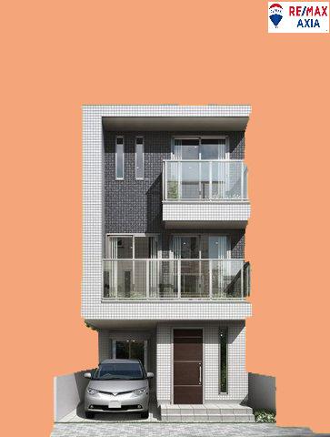 スタイリッシュな外観。窓が多く明るい光と風通しの良い空間で快適に過ごせます♪ 【当社建物プラン例 建物面積105㎡、建物価格1800万円】