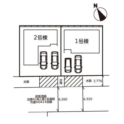 【区画図】下阪本6丁目21-1期 分譲2区画 1号棟