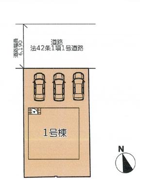 【区画図】西脇市野村町 新築1棟 4LDK