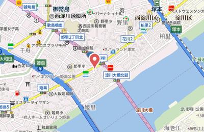 【地図】エスリード大阪シティウエスト