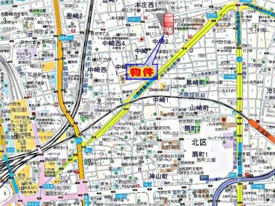 【地図】レジュールアッシュ梅田レジデンス