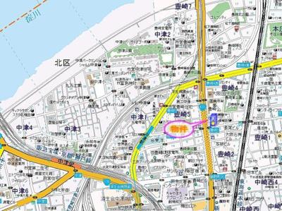 【地図】プレサンス梅田北パワーゲート