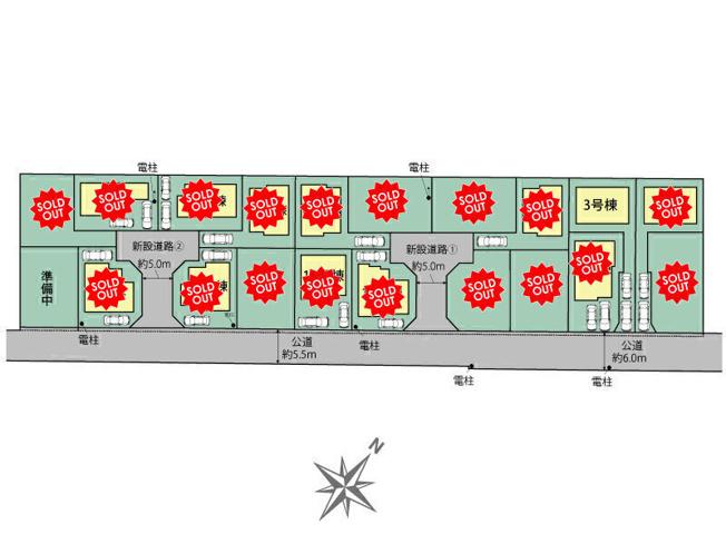 【区画図】国分寺市東戸倉1丁目 新築戸建 全20棟 3号棟