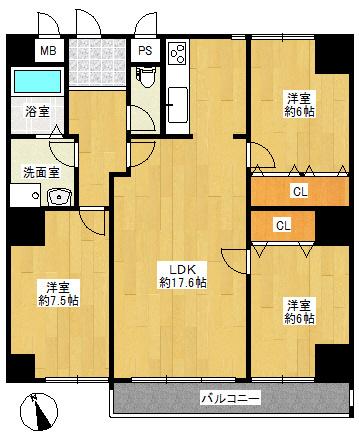 2階部分のお部屋です。