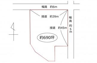 【土地図】新旭町饗庭690坪土地