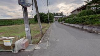 【前面道路含む現地写真】新旭町饗庭690坪土地