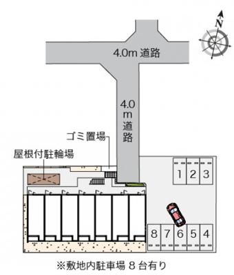 【地図】クレイノクオーレ若葉