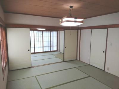 1階 和室8帖・6帖は続き間として使用できます。