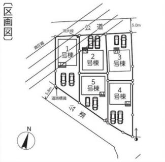 【区画図】新築 新潟市東区中山第2  3号  4LDK