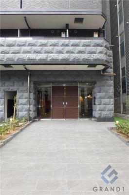【エントランス】プレサンス谷町九丁目駅前