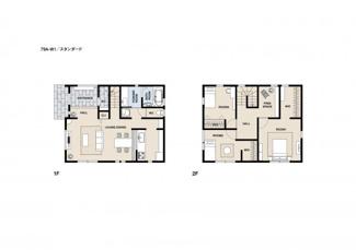 ジブンハウス仕様参考プラン 建物面積103.50m2 建物価格1675万円