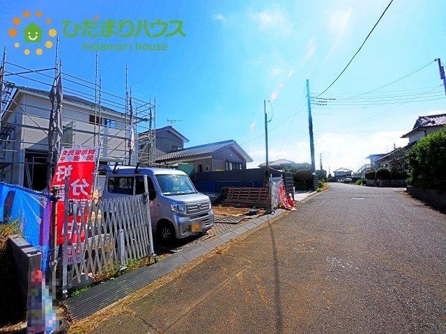 【前面道路含む現地写真】潮来市大塚野20-2期 新築戸建
