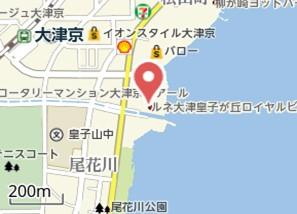 【地図】ルネ大津皇子が丘 ロイヤルビュー