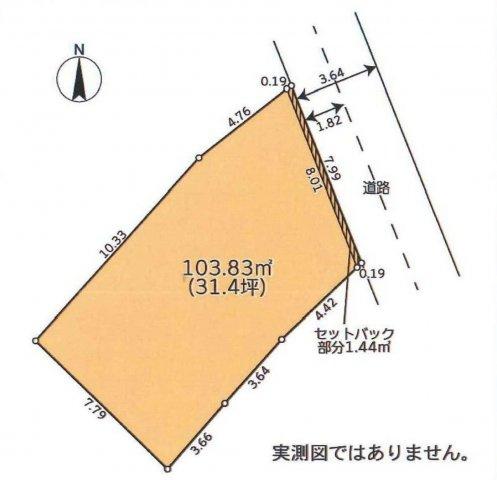 【土地図】仲介手数料無料 中野区野方3丁目売地