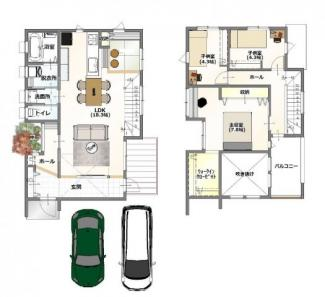 ・弊社標準建物価格 28坪:1910万(別途外構費160万)     ・参考プラン延床面積: 129.02㎡