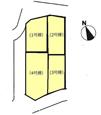 【区画図】クレイドルガーデン山口市黒川 第3 (4号棟)