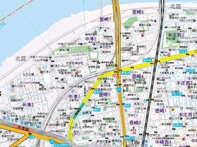【地図】エスライズ梅田北