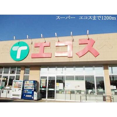 スーパー「エコスまで1200m」