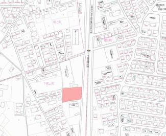 【地図】宇都宮市下砥上町 土地