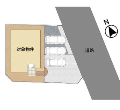 【区画図】久留米市荒木町荒木字豆塚