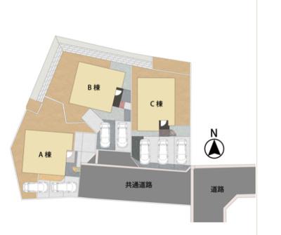 【区画図】久留米市上津町字中尾山