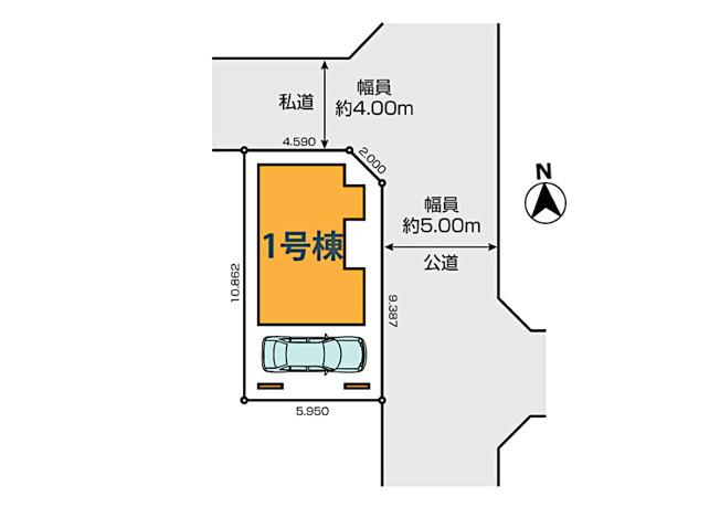 【区画図】小平市御幸町 新築戸建