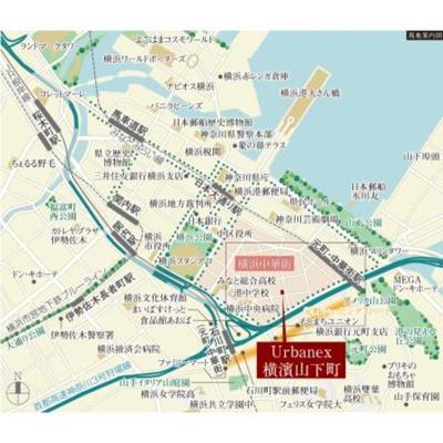 【地図】アーバネックス横濱山下町