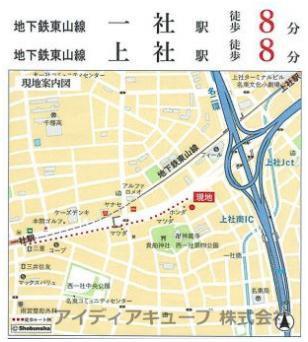 【地図】チサンマンション一社