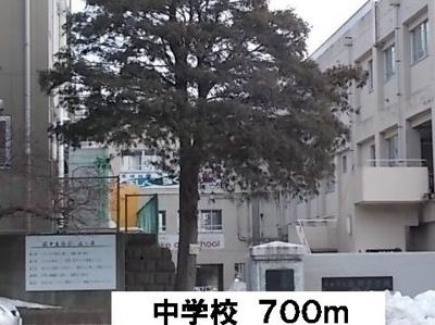 荻野中学校まで700m