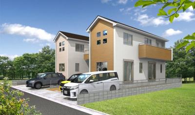 統一感あるデザインは、毎日の生活に安らぎと安心を。永住志向の住まいとして新築戸建というご提案。