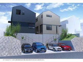 【外観パース】川西市緑が丘1丁目13の6 新築一戸建て