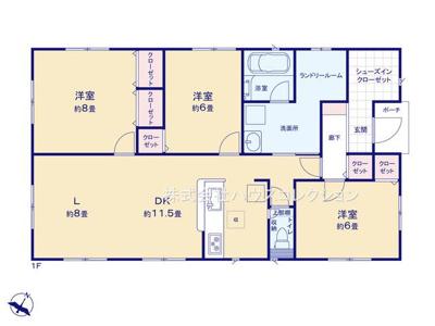 【区画図】牛久市栄町第3 新築戸建 全8棟