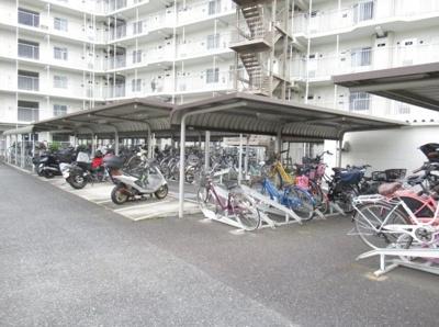 南六郷第1スカイハイツの駐輪場です。